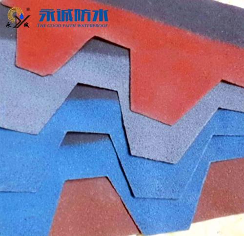 Colored glass fiber asphalt shingles